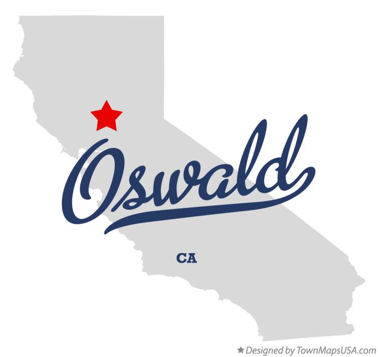 Map of Oswald California CA