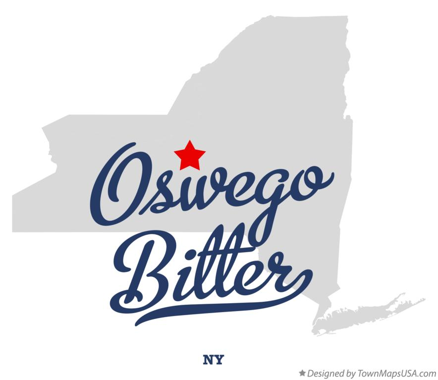 Map of Oswego Bitter New York NY