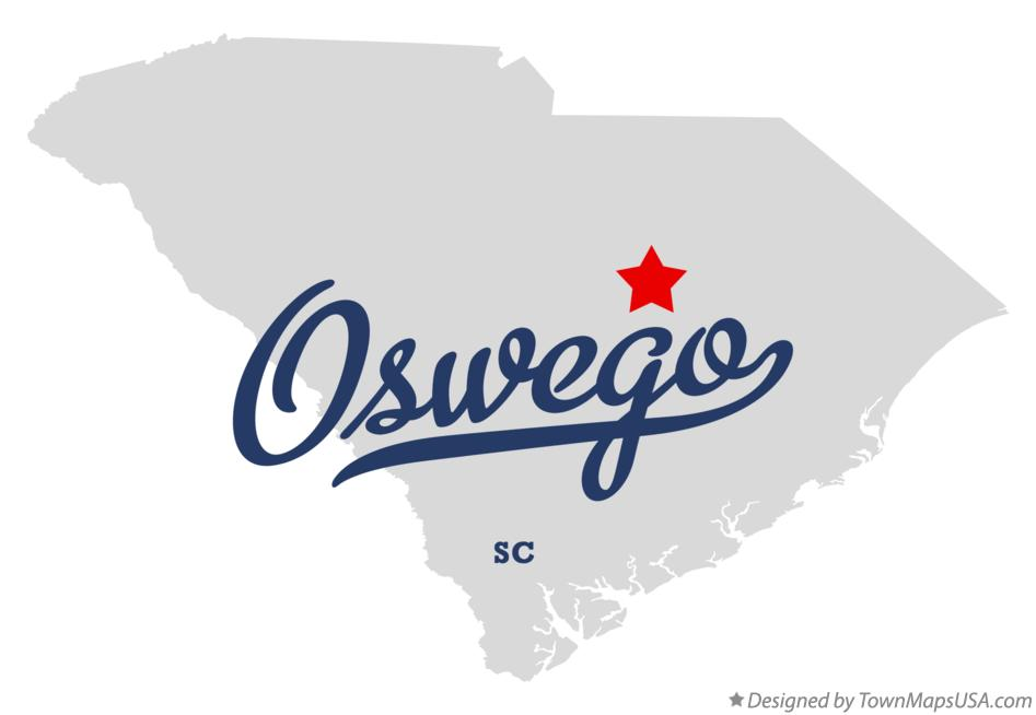 Map of Oswego South Carolina SC