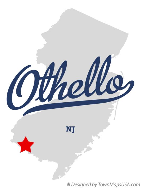 Map of Othello New Jersey NJ