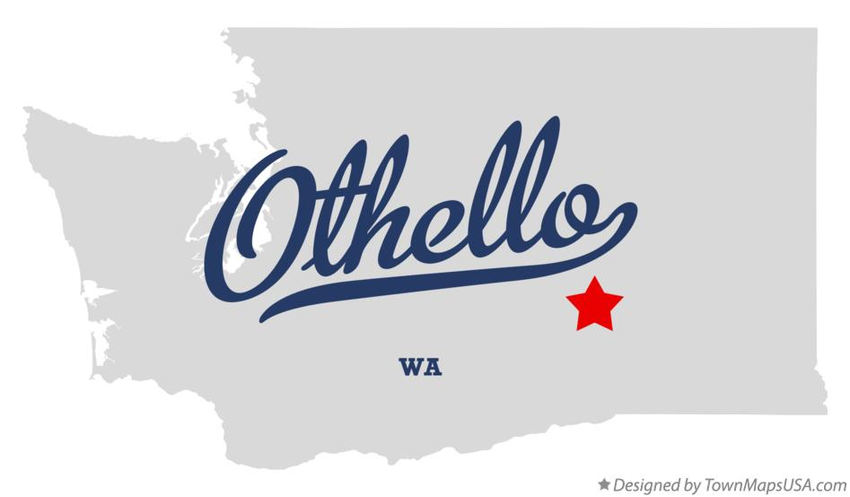 Map of Othello Washington WA