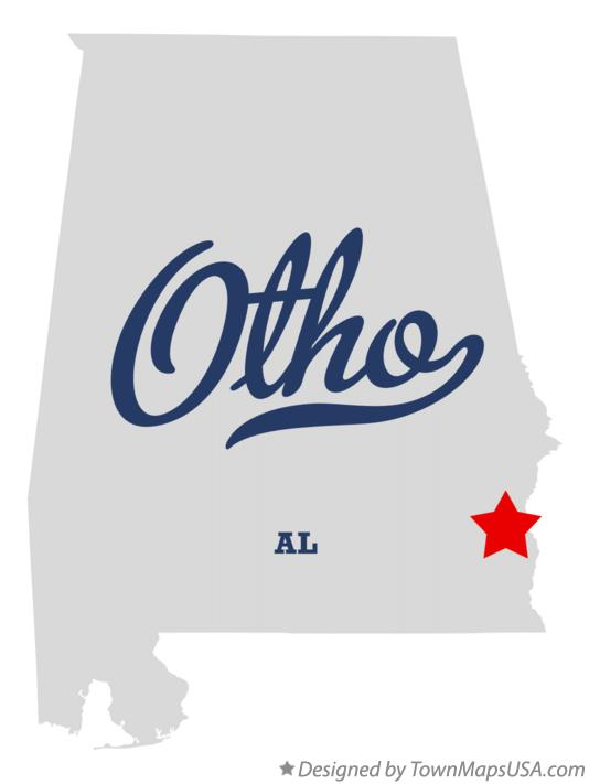 Map of Otho Alabama AL