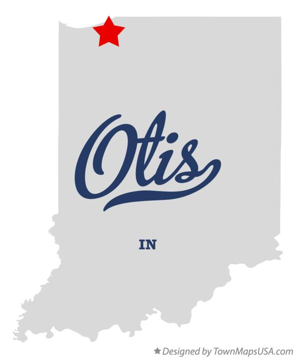 Map of Otis Indiana IN