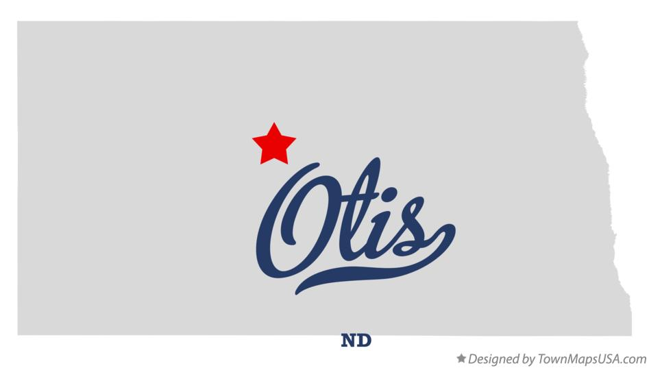 Map of Otis North Dakota ND
