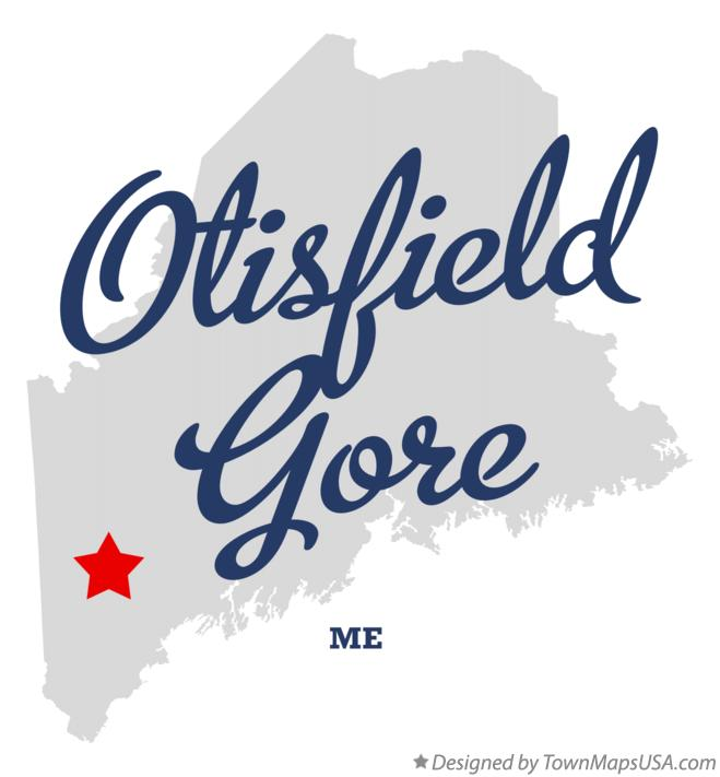 Map of Otisfield Gore Maine ME
