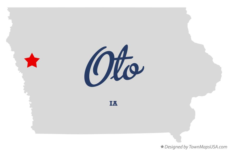 Map of Oto Iowa IA