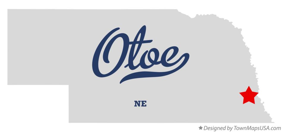 Map of Otoe Nebraska NE