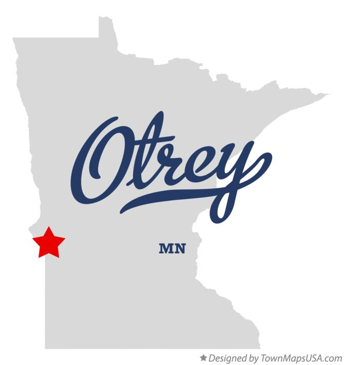 Map of Otrey Minnesota MN
