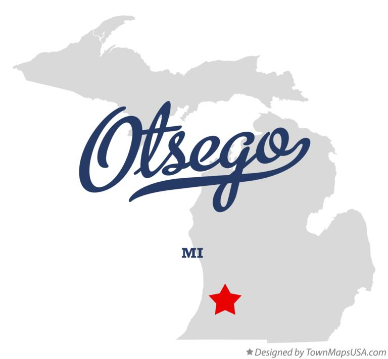 Map of Otsego Michigan MI