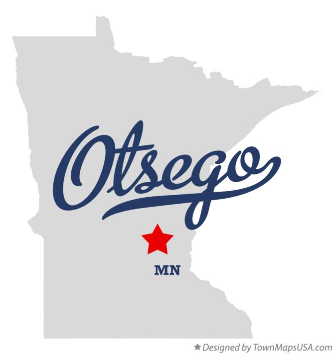 Map of Otsego Minnesota MN