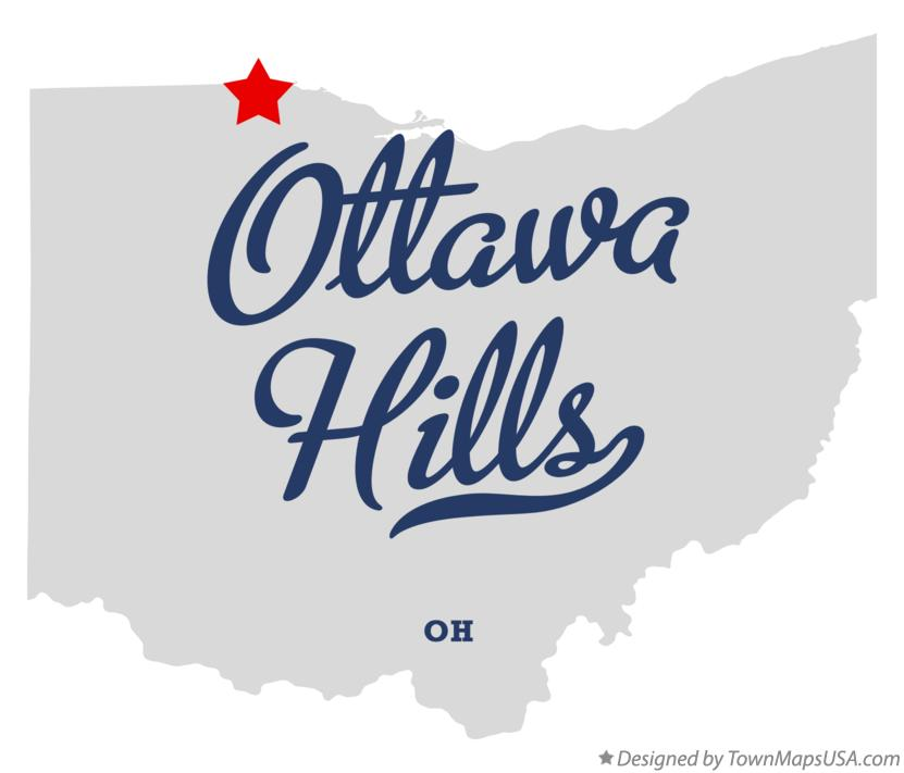 Map of Ottawa Hills Ohio OH