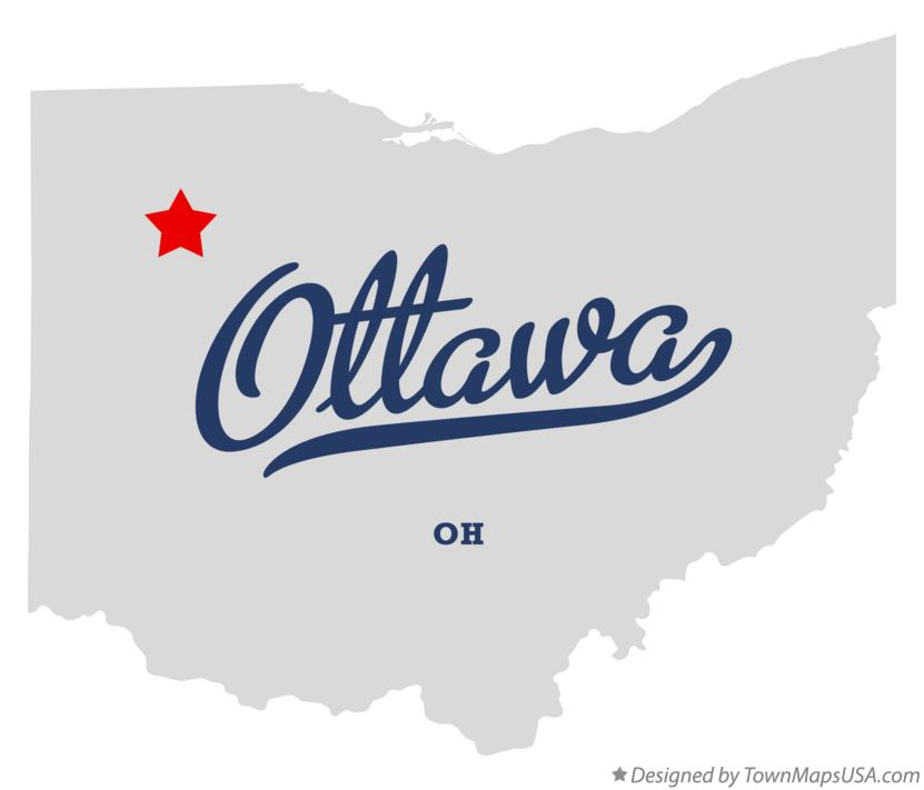 Map of Ottawa OH Ohio