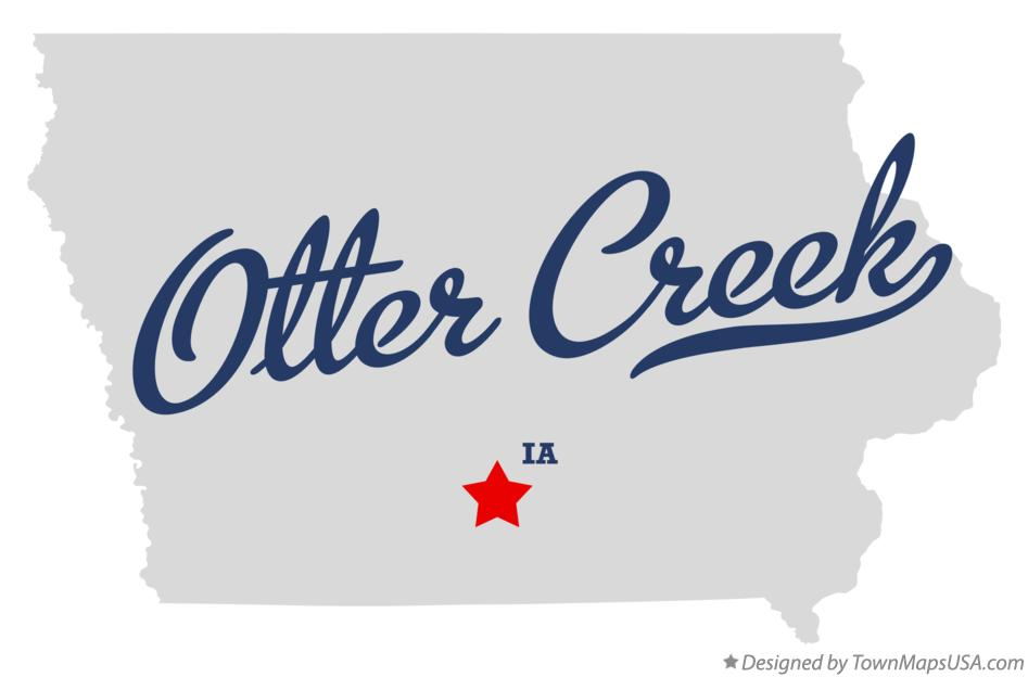 Map of Otter Creek Iowa IA