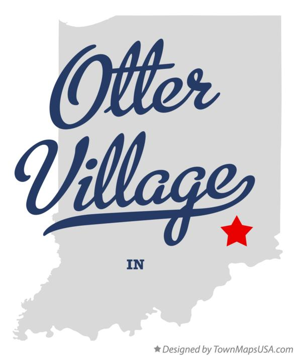 Map of Otter Village Indiana IN