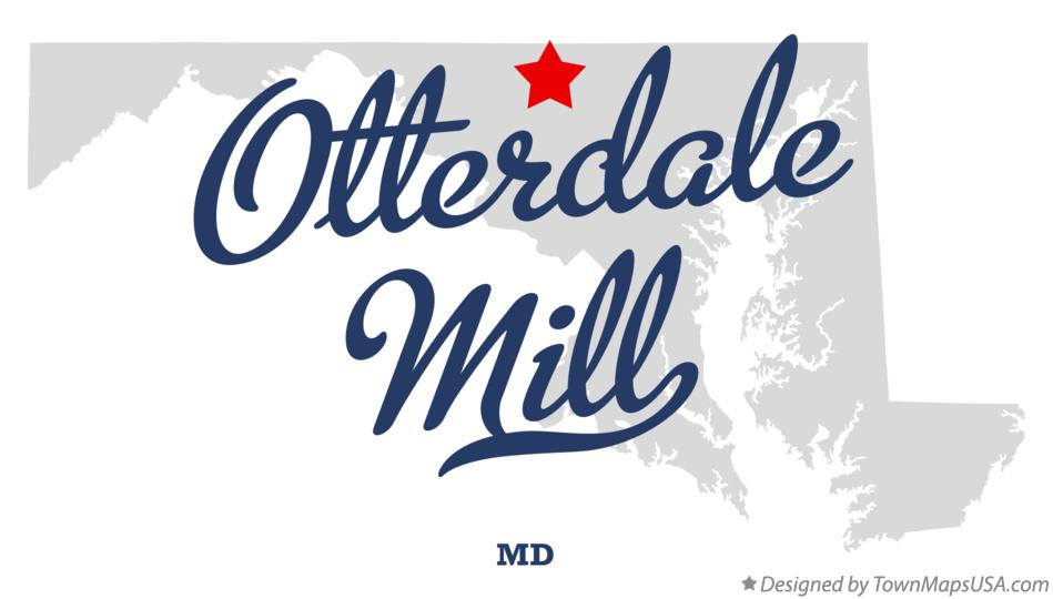 Map of Otterdale Mill Maryland MD