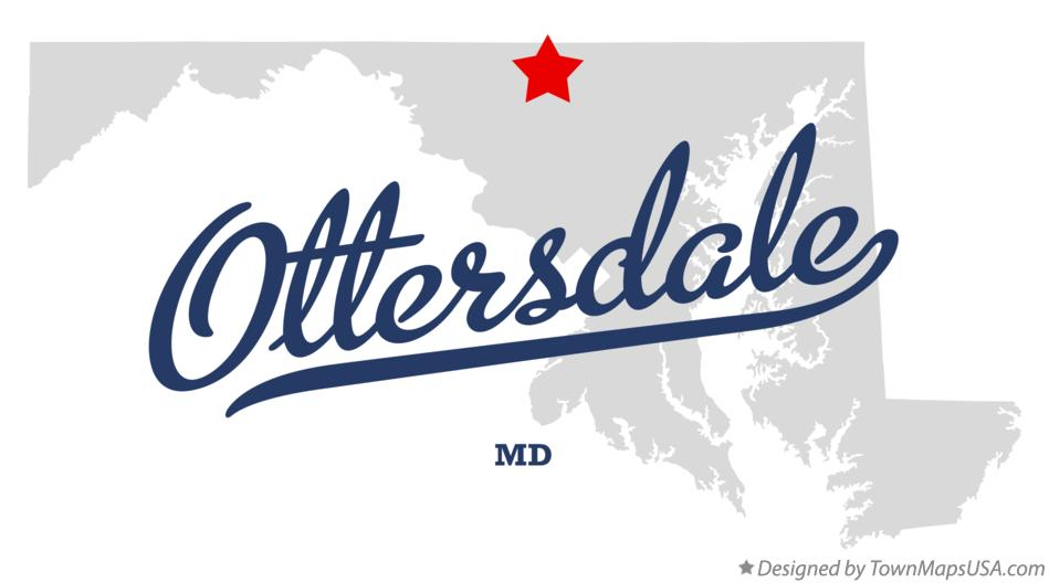 Map of Ottersdale Maryland MD