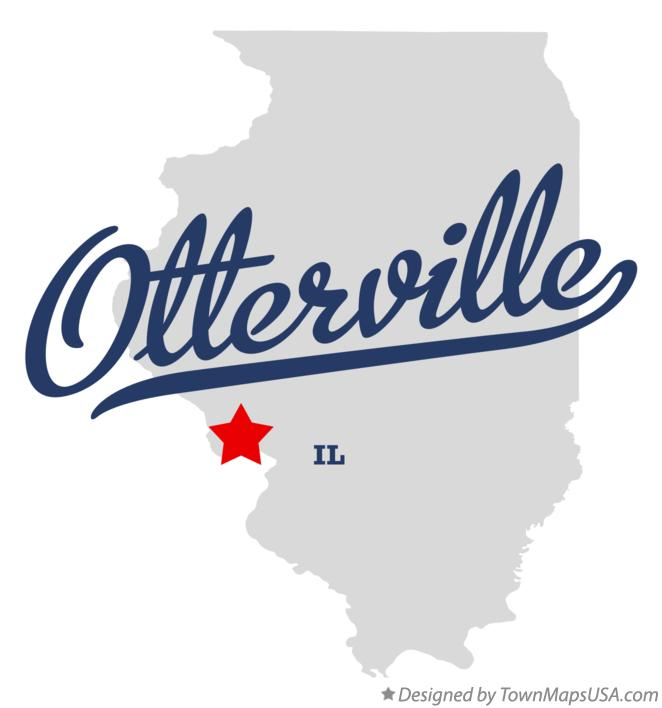 Map of Otterville Illinois IL