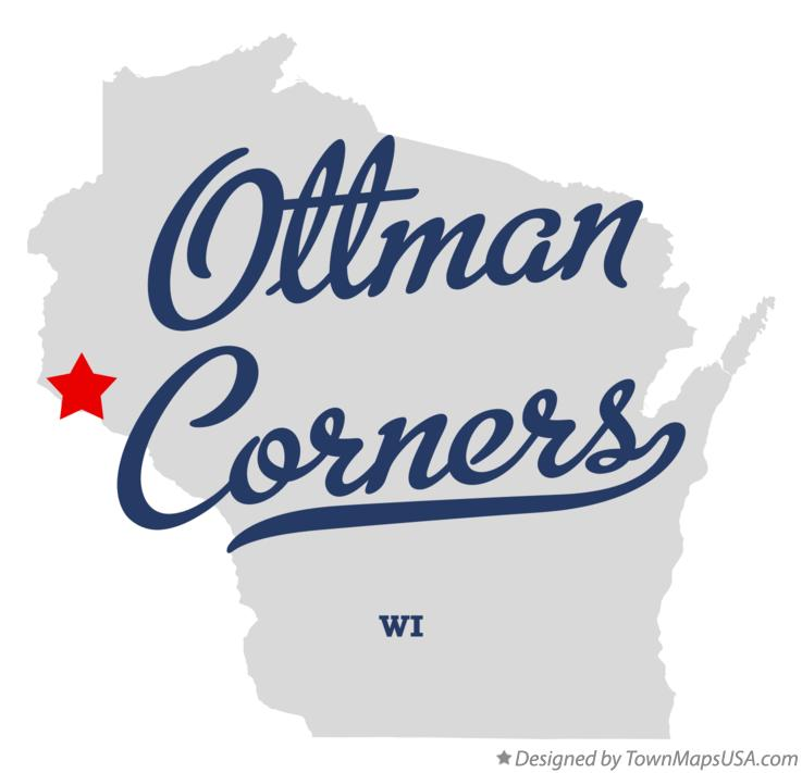 Map of Ottman Corners Wisconsin WI
