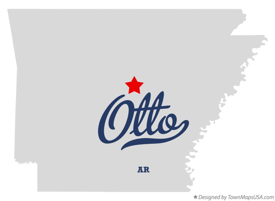 Map of Otto Arkansas AR