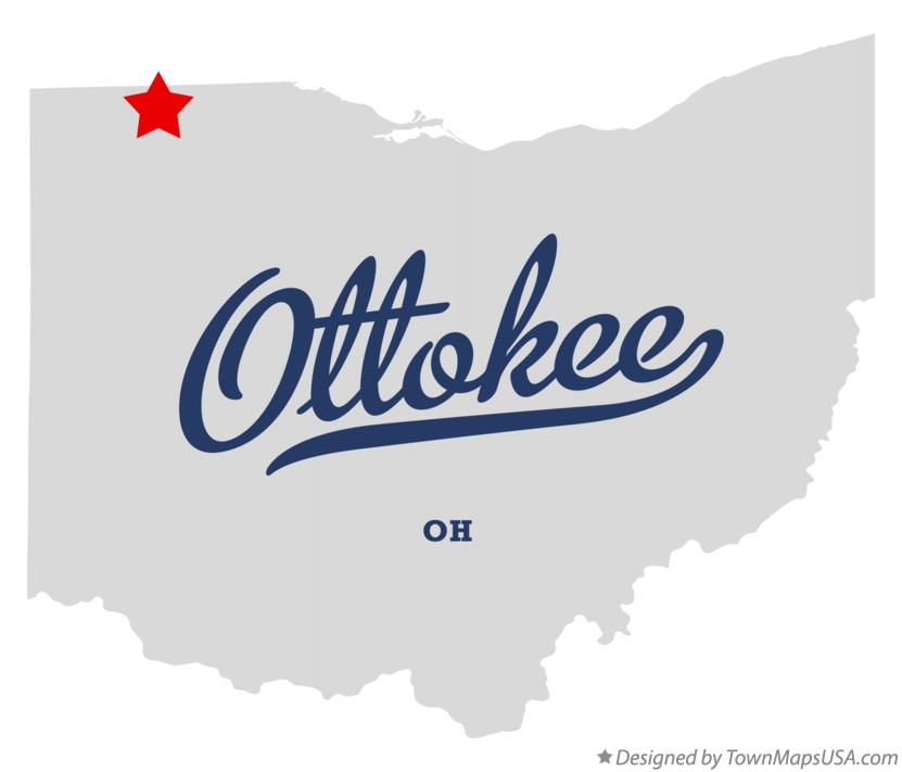 Map of Ottokee Ohio OH