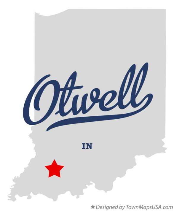 Map of Otwell Indiana IN