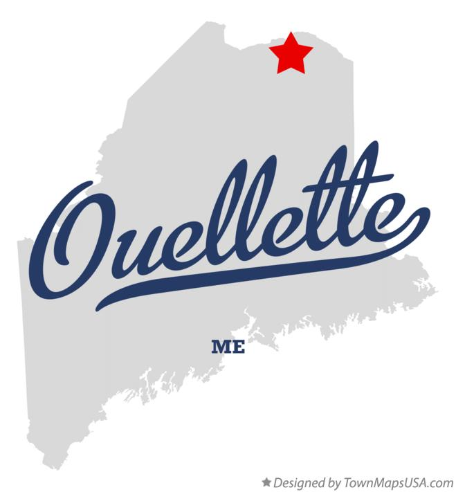 Map of Ouellette Maine ME