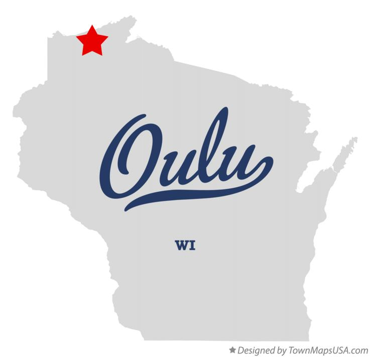 Map of Oulu Wisconsin WI