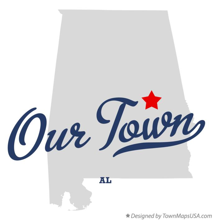 Map of Our Town Alabama AL