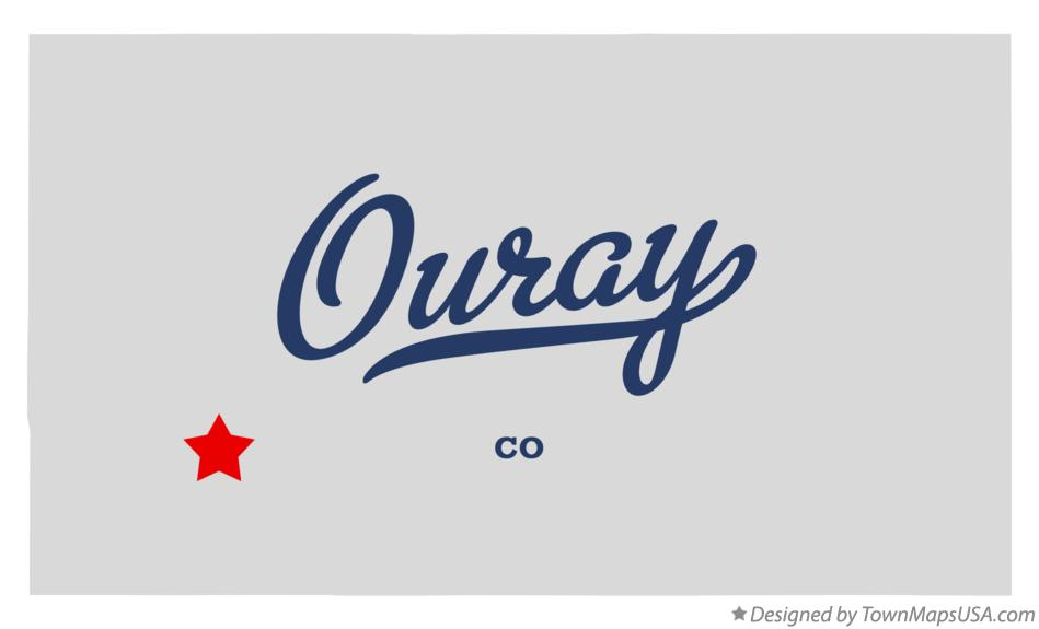 Map of Ouray Colorado CO