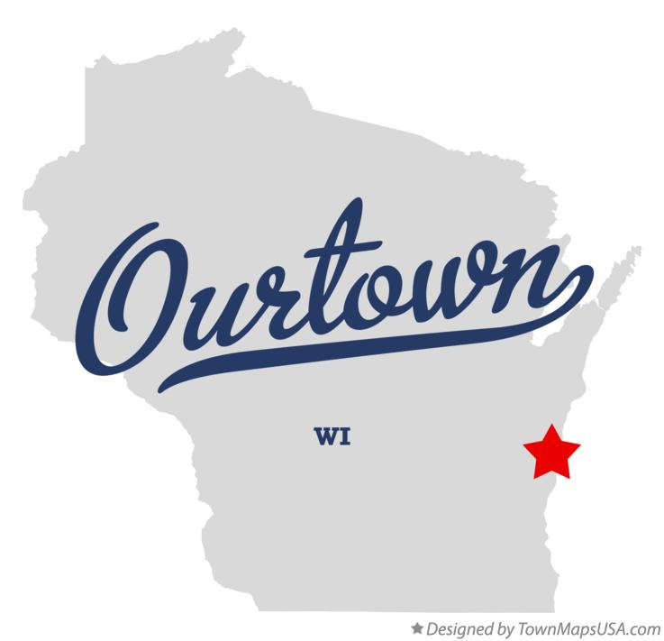 Map of Ourtown Wisconsin WI