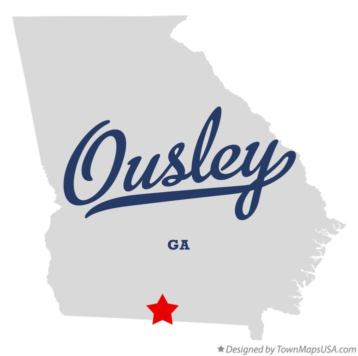 Map of Ousley Georgia GA