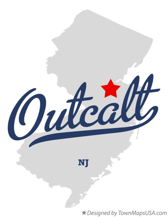 Map of Outcalt New Jersey NJ
