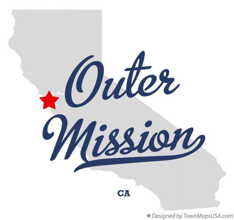 Map of Outer Mission California CA