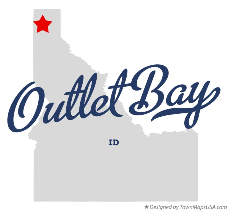 Map of Outlet Bay Idaho ID