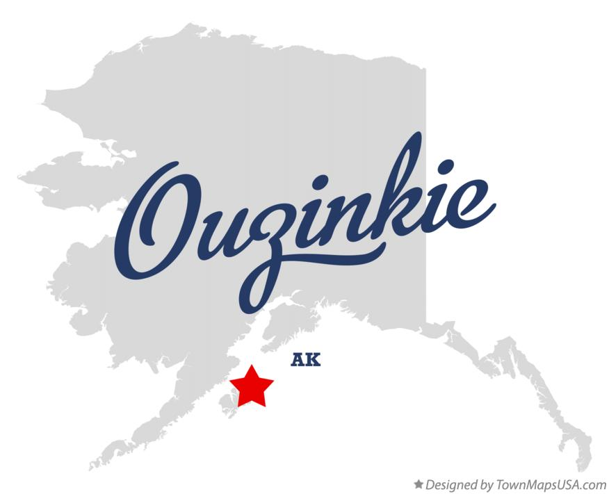 Map of Ouzinkie Alaska AK