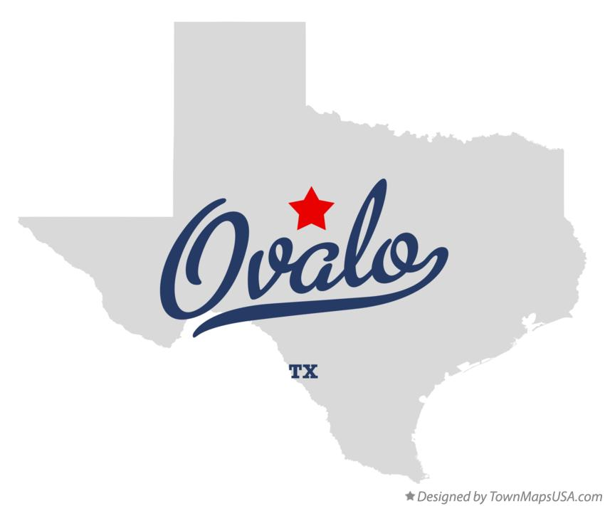 Map of Ovalo Texas TX