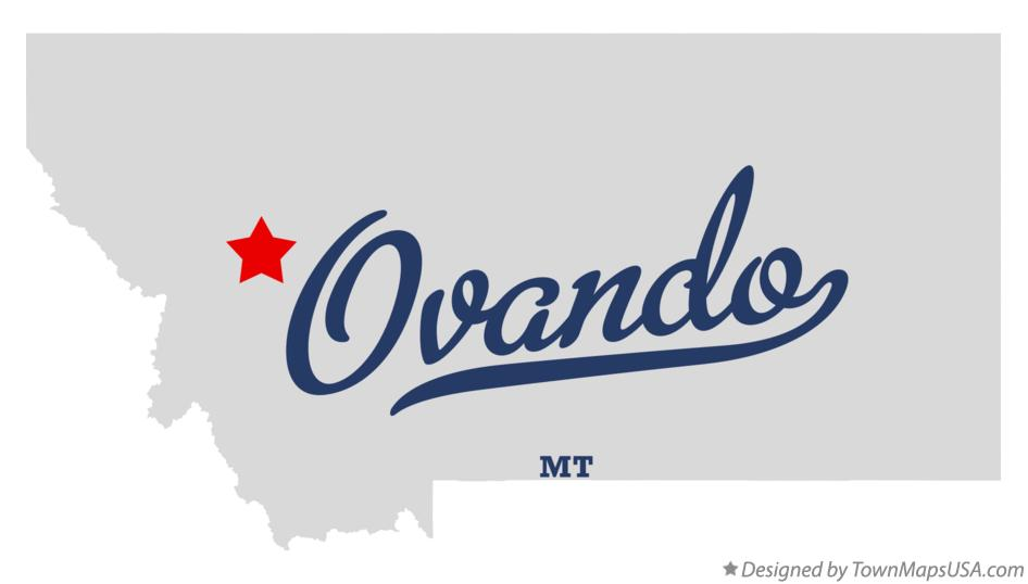 Map of Ovando Montana MT