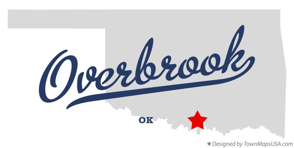 Map of Overbrook Oklahoma OK