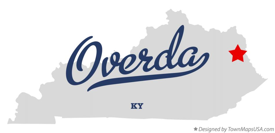Map of Overda Kentucky KY