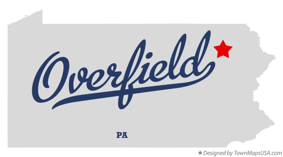 Map of Overfield Pennsylvania PA