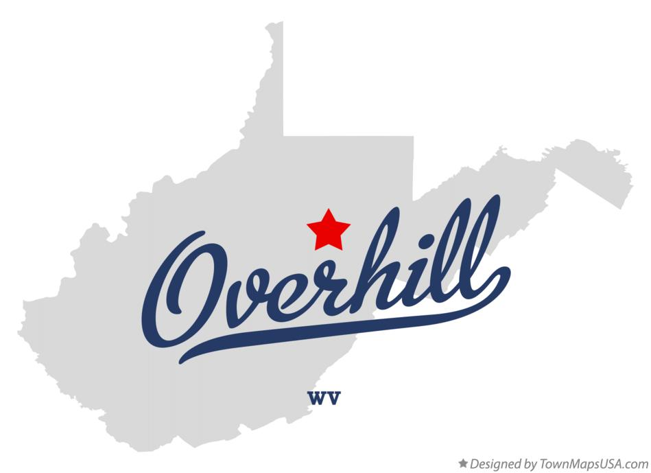 Map of Overhill West Virginia WV