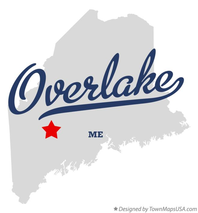 Map of Overlake Maine ME