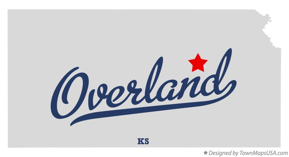 Map of Overland Kansas KS