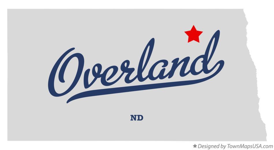 Map of Overland North Dakota ND
