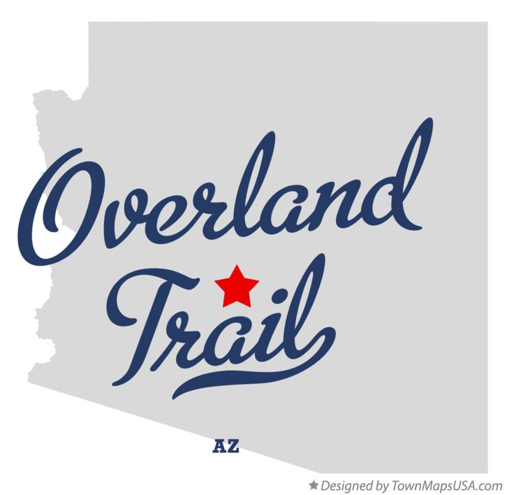 Map of Overland Trail Arizona AZ