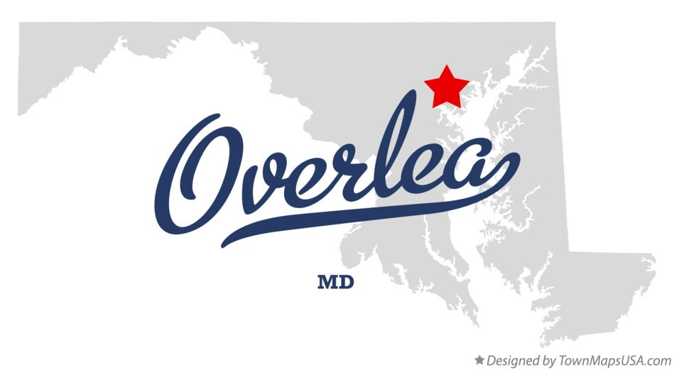 Map of Overlea Maryland MD