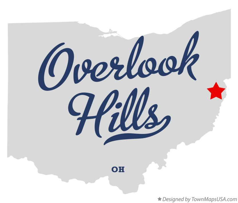 Map of Overlook Hills Ohio OH