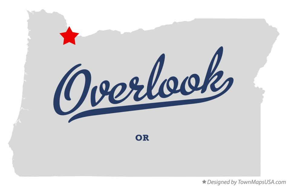 Map of Overlook Oregon OR