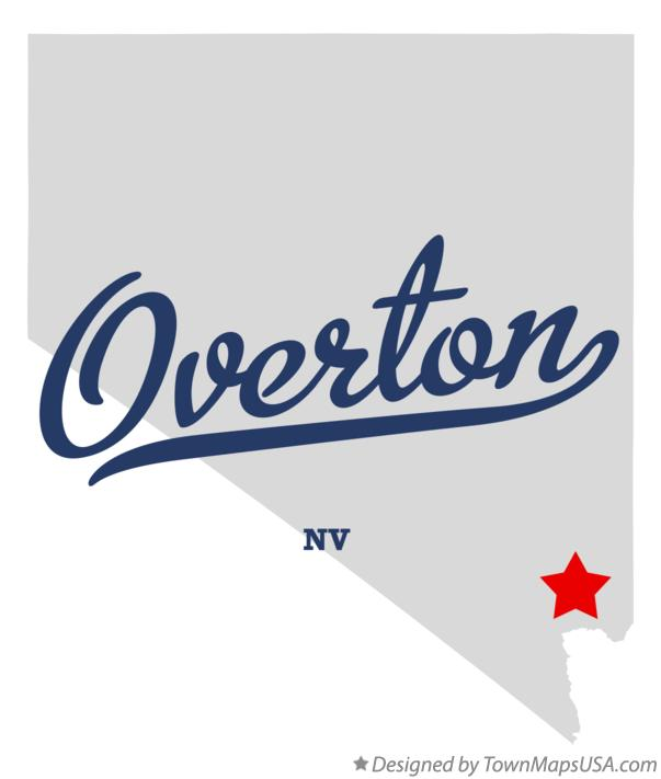 Map of Overton Nevada NV