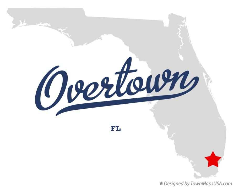 Map of Overtown Florida FL